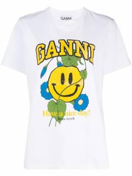 Ganni graphic-print T-shirt T27493460