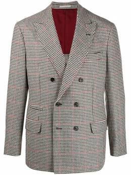Brunello Cucinelli двубортный пиджак в ломаную клетку MN4837BPDC466