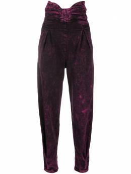 Red Valentino marbled bow detail high-waisted trousers UR3DD02U58V