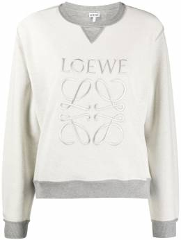 Loewe logo-embroidered inside-out sweatshirt S359341X95