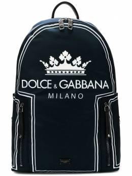 Dolce&Gabbana crown logo print backpack BM1482AS658