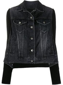 Sacai ribbed denim jacket 2005153
