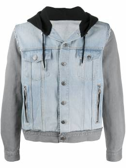 Balmain джинсовая куртка с капюшоном TH18578Z111