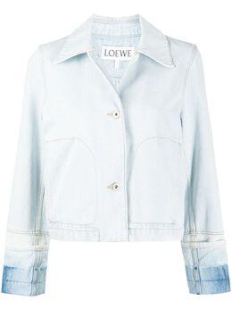 Loewe cropped contrasting cuffs denim jacket S359330XBW