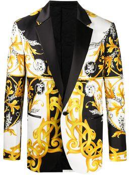 Versace пиджак с принтом Barocco Acanthus A85329A235432