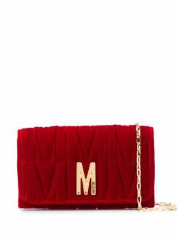 Moschino M-quilted clutch bag A81188211