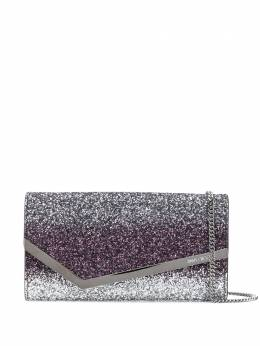 Jimmy Choo Emmie glitter clutch bag EMMIEVNB