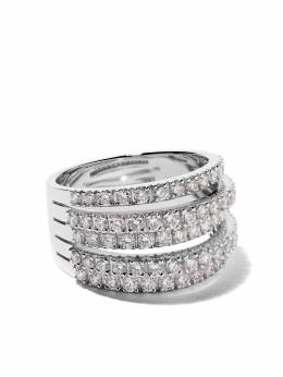 De Beers 18kt white gold Five Line diamond ring J1BM54Z00W