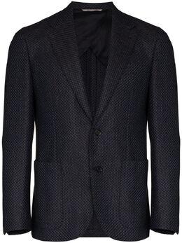 Canali фактурный пиджак L20272CU02738