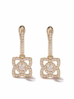 De Beers 18kt yellow gold Enchanted Lotus diamond sleeper earrings J2FK03Z00Y