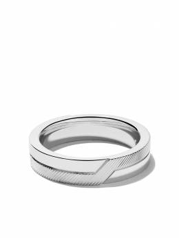 De Beers 18kt white gold Promise half textured band J1FD23Z00W
