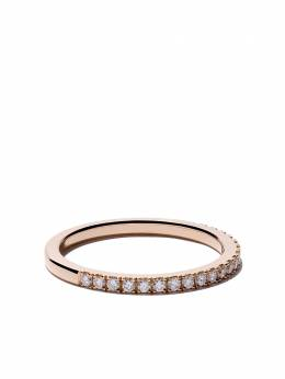 De Beers 18kt rose gold DB Classic half pavé diamond band J1EX05Z00K