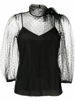 Red Valentino sheer tie-neck blouse UR3AAA901GK