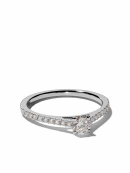 De Beers Platinum My First De Beers DB Classic pavé solitaire diamond ring J1EX02B02P