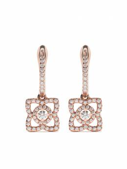 De Beers 18kt rose gold Enchanted Lotus diamond sleeper earrings J2FK03Z00K