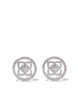 De Beers 18kt white gold Enchanted Lotus openwork diamond stud earrings J2FK84Z00W