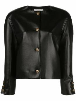 Philosophy Di Lorenzo Serafini faux-leather fitted jacket A05060740