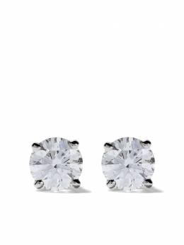 De Beers Platinum My First De Beers DB Classic diamond stud earrings J2EX01B02P