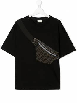 Fendi Kids TEEN belt bag-print T-shirt JMI3027AJ