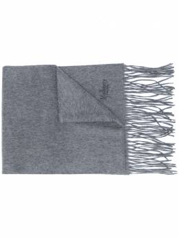 Mulberry embroidered logo cashmere scarf VS4119684C601