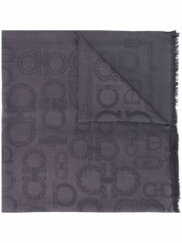Salvatore Ferragamo жаккардовый шарф с узором Gancini 733342004