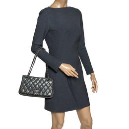 Chanel Crocodile Green Leather CC Flap Bag 303479