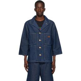 Gucci Blue Denim Stone Wash Jacket 623937XDA8V