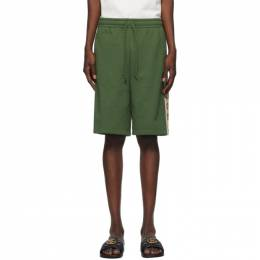 Gucci Green Cotton Jersey Shorts 630715 XJBUW