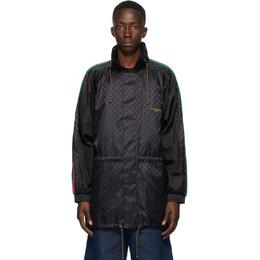 Gucci Black Jacquard GG Windbreaker Jacket 618891 ZAENY