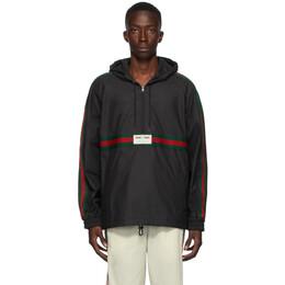 Gucci Black Coated Windbreaker Jacket 594861 XDBCH