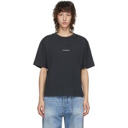 Acne Studios Black Logo Print T-Shirt AL0149-