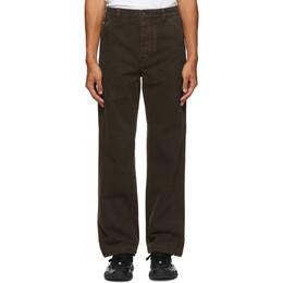 Acne Studios Brown Twill Straight-Leg Chino Trousers BK0295