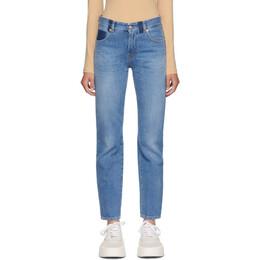 Mm6 Maison Margiela Blue Straight-Leg Jeans S52LA0130 S30460
