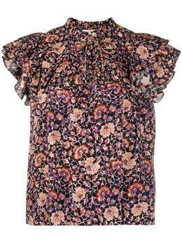 Ulla Johnson floral ruffle-sleeve blouse PF200225