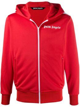 Palm Angels logo-print zip-up hoodie PMBD025E20FAB0032901
