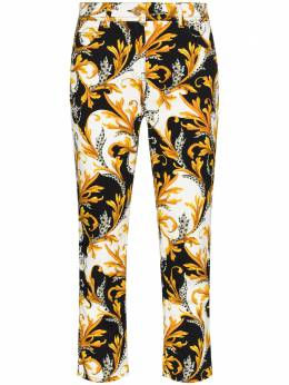 Versace Baroque-print cropped jeans A87098A236024