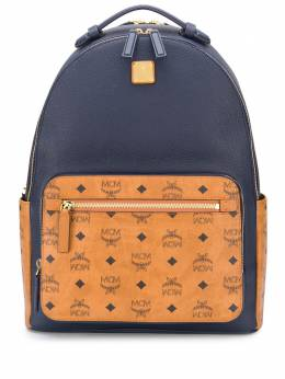 MCM logo print panelled backpack MMKAAVE22