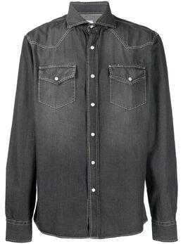 Brunello Cucinelli spread collar denim shirt ML6304008CH235