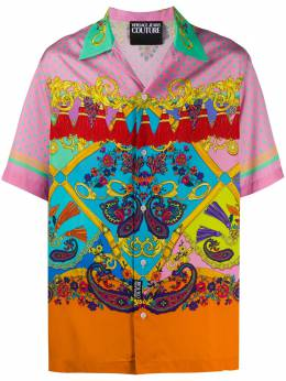 Versace Jeans Couture Baroque print short-sleeved shirt EB1GZA6B2ES0860