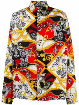Versace Jeans Couture print mix shirt EB1GZA604ES0827