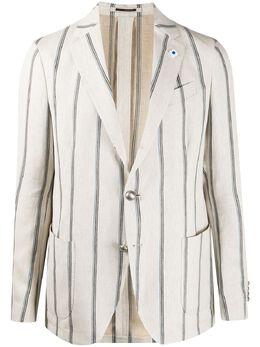Lardini пиджак в полоску EI902AEA54534