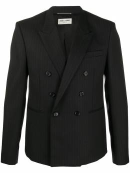 Saint Laurent pinstriped double-breasted blazer 604921Y1B46
