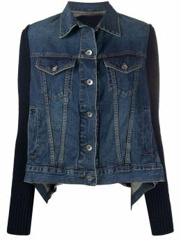 Sacai draped denim jacket 2005153