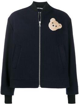 Palm Angels bear-patch bomber jacket PMEA118E20FAB0014560