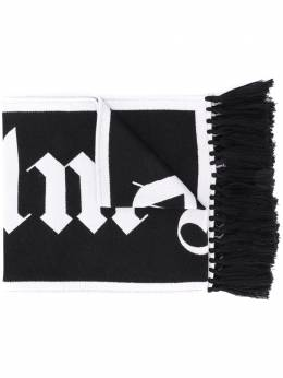 Palm Angels logo-jacquard fringed scarf PMMA011E20KNI0011001