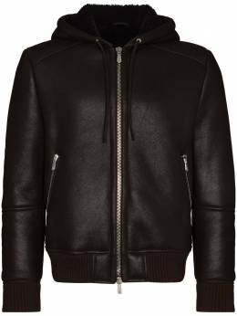 Eleventy hooded shearling leather jacket B75GBTB37SHY0B002