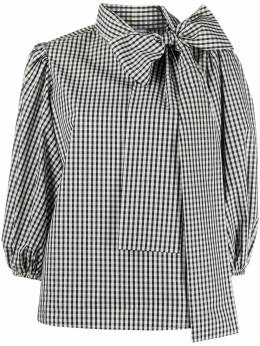 Red Valentino gingham pussy-bow blouse UR3AAA9055Y