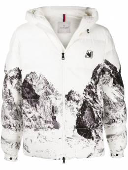 Moncler mountain-print padded jacket 1A5610054ALL
