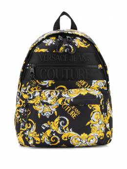 Versace Jeans Couture logo baroque print backpack E1YZAB6071594