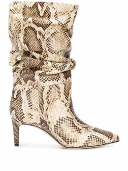 Paris Texas snake-effect 65mm ankle boots PX511XPMBB